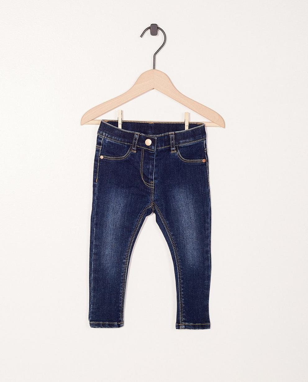 Jeans délavé - boutons-pressions - JBC